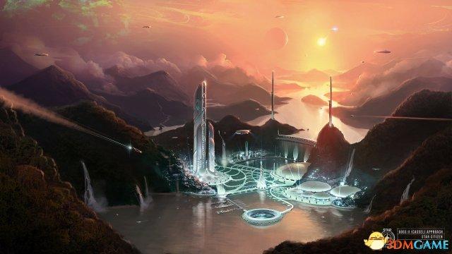 星际公民文明6美工概念画 科幻飞船及场景酷炫
