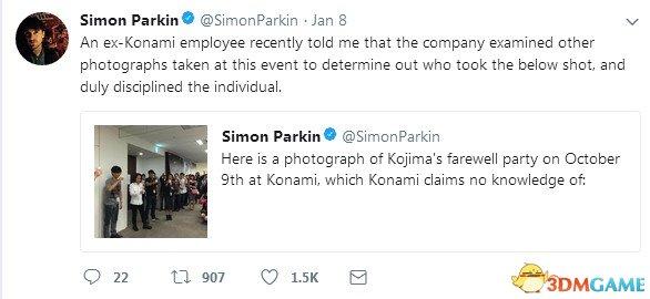 悲劇!KONAMI員工因曝出小島秀夫離職照被懲罰