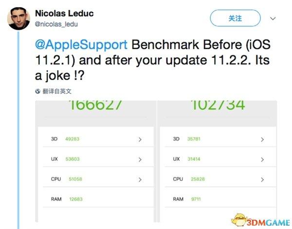 闹哪样?所有iPhone升级iOS11.2.2后 性能狂下降