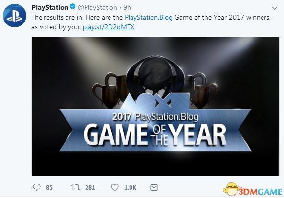 索尼官方2017最佳游戏大奖