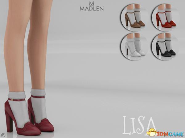 模拟人生4 v1.31Lisa女士经典复古小圆头高跟皮鞋MOD