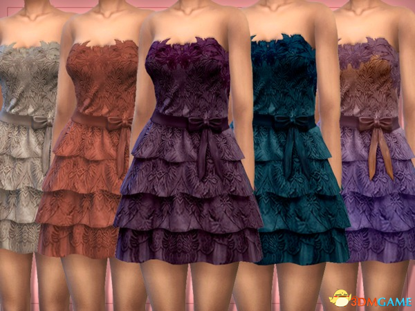 模拟人生4 Lounacutex女士甜美可爱系蕾丝小塔裙MOD