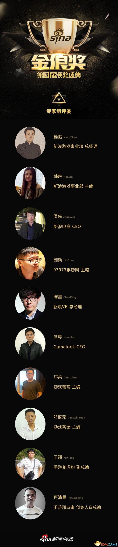 新浪游戏金浪奖评委公布,众多行业大咖公正评判