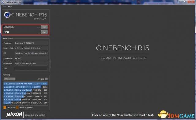 cinebench r15处理器CPU测试软件[附排行]v0.38