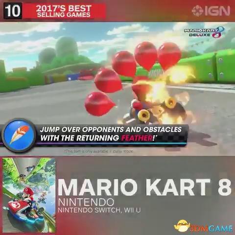 第十名 马里奥赛车8 Switch Wii U
