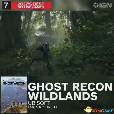 第七名 幽灵行动荒野  PS4 XB1 PC