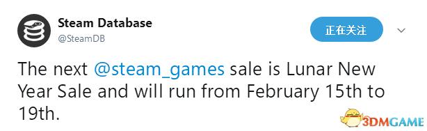Steam春节特卖基本确认回归 国外爆料特卖存在