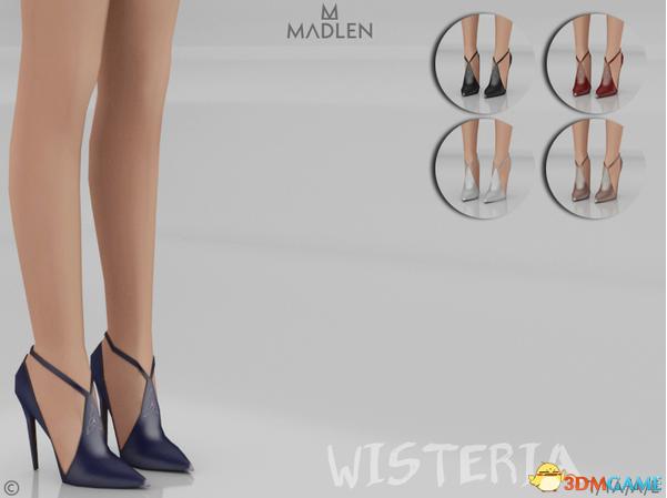 模拟人生4 Wisteria女士侧空尖头高跟凉鞋MOD