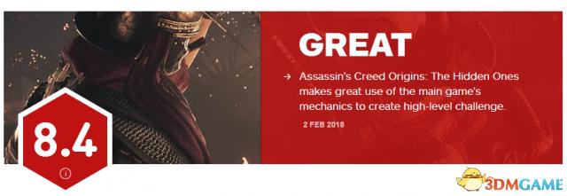 8.4分 优良《刺客信条:起源》DLC无形者IGN评分