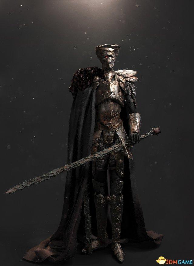 《黑暗之魂3》玩家自制薪王获官方点赞 玫瑰剑帅气