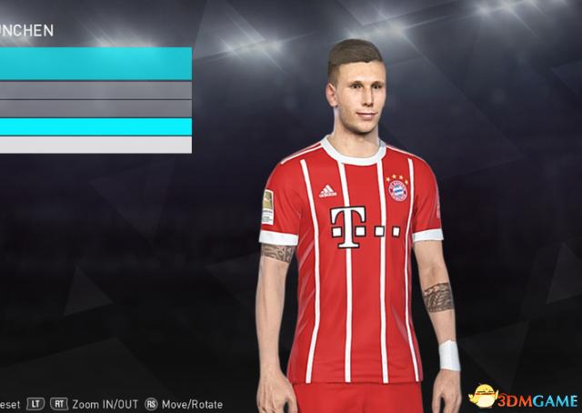实况足球2018 拜仁慕尼黑后卫聚勒纹身面补补丁