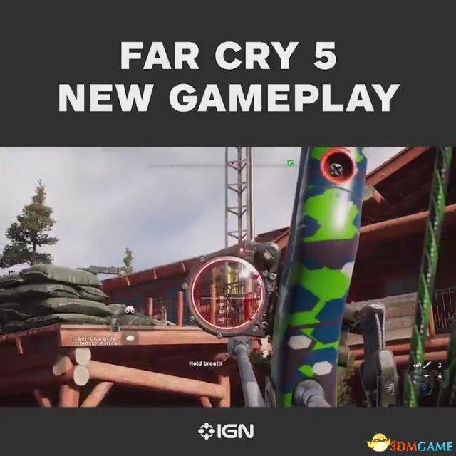 《孤岛惊魂5》 IGN独家演示 弓箭暗杀 榴弹炮刚正面