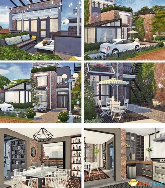 模拟人生4 山顶三层现代别墅MOD