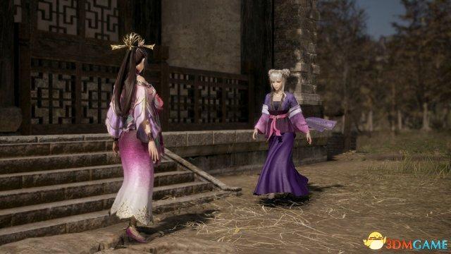 《真三国无双8》董白和夏侯姬人设图 两妹子可爱