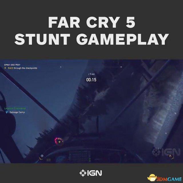 《孤岛惊魂5》 IGN独家演示 挑战特技飞行穿越障碍