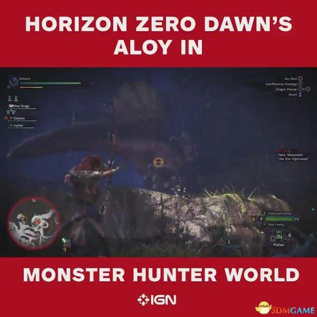 《怪物猎人:世界》 亚洛伊演示 张弓怒射蛮颚龙