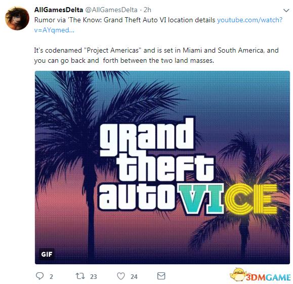 传言《侠盗猎车6》游戏地点设定在迈阿密和南美洲