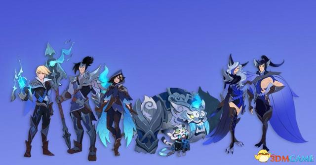 《英雄联盟》SSG冠军皮肤初版概念画曝光 蓝焰精美