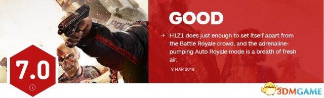 《H1Z1》獲IGN 7.0分評價:易上手但缺乏特色