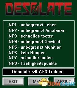 DESOLATE v0.7.58-0.763八项修改器[dR.oLLe]