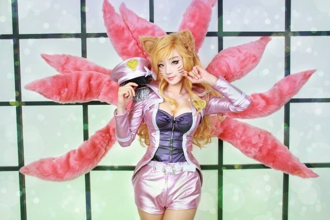 甜美無敵 南韓正妹Cos《守望先鋒》魔法少女D.va