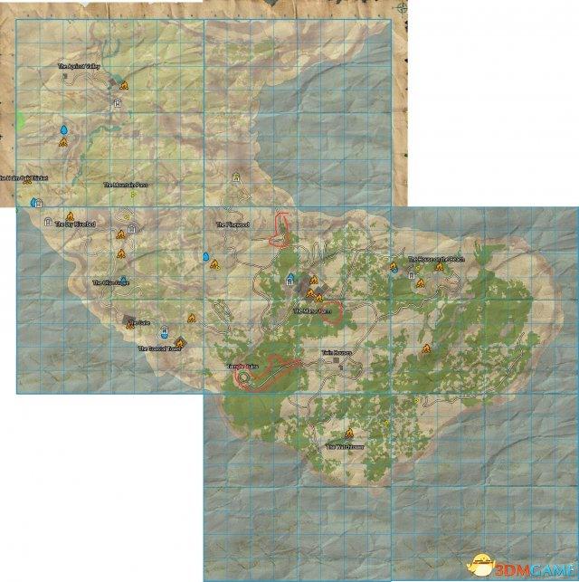 英年早逝A测试版大地图一览
