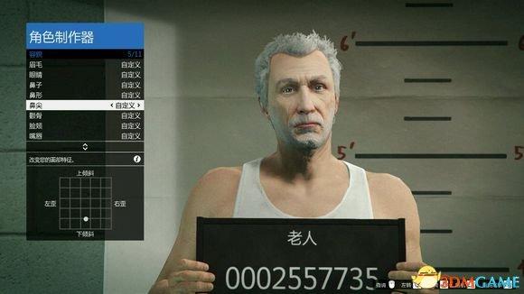 侠盗猎车5白发大叔捏脸数据