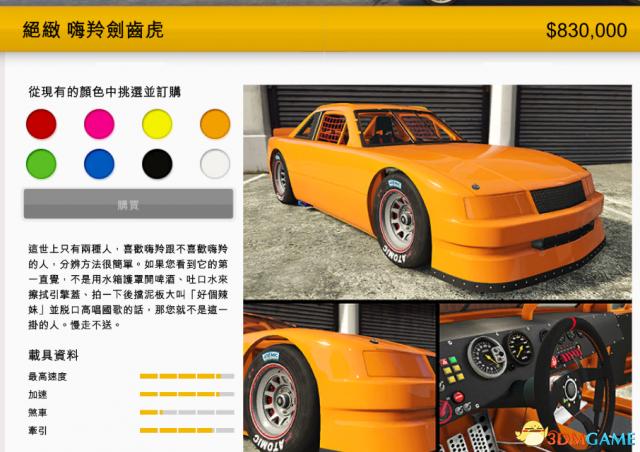 侠盗猎车5圣安系列赛全载具图鉴 GTA5圣安全载具介绍