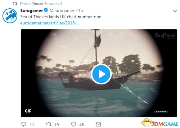 《盗贼之海》登顶英国游戏销量排行榜 Rare干地好
