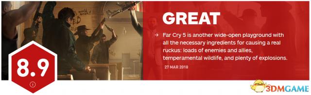 8.9分 《孤岛惊魂5》IGN评分出炉 期待下一作地点