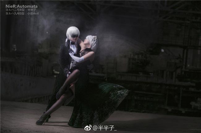 灵魂探戈 美女COS《尼尔:机械纪元》2B与9S共舞