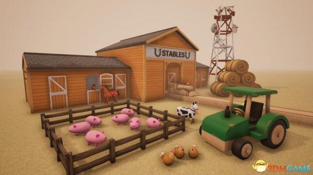玩具火车模拟游戏《轨道》更新 加入乡村风情素材