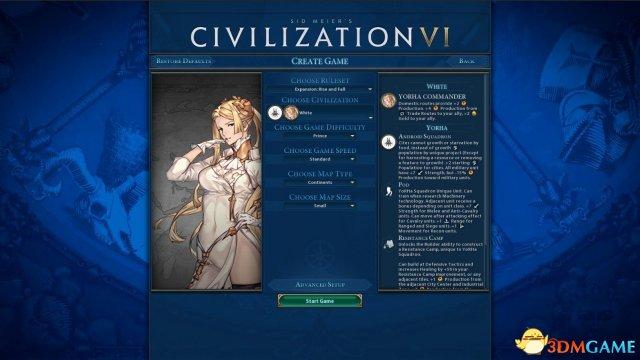 文明6:迭起兴衰 尼尔机械纪元怀特与2B的寄叶中队mod