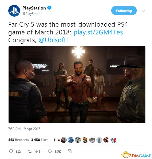 《孤岛惊魂5》登顶北美PS商店排行榜 成绩不错