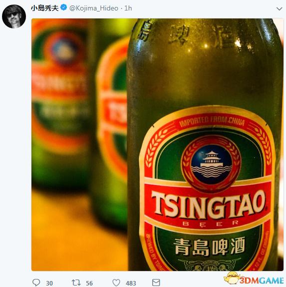 小岛秀夫晒青岛啤酒 疑似《死亡搁浅》来中国取景