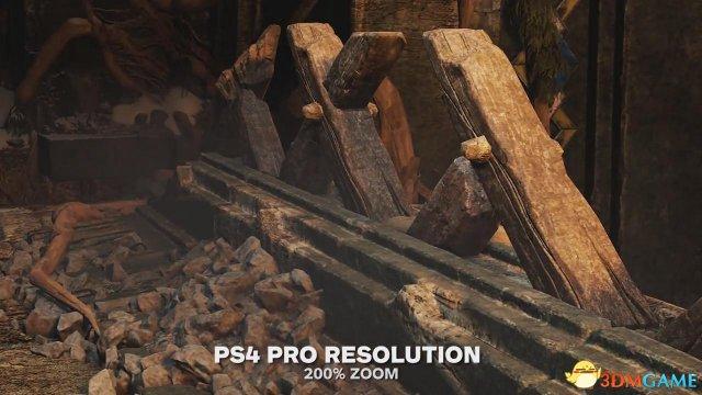《战神4》PS4 PS4 Pro画面对比演示 用PS4PRO最佳