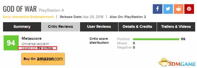 10分!《战神4》IGN评分出炉 神级杰作超出期待