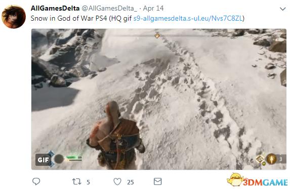 《戰神4》雪地效果演示 細節真實物理引擎逆天