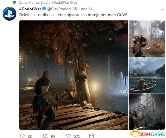 巴西PS官推分享《戰神4》高清截圖 讓人大飽眼福