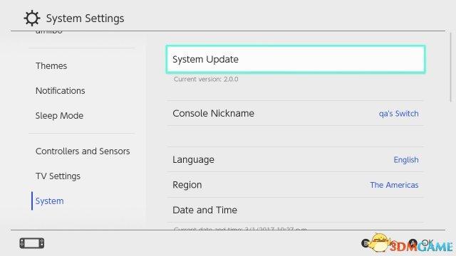 Switch系统固件升级至5.0.2 修正头像体感操作BUG