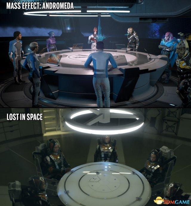 神還原 《迷失太空》劇照Vs.《量效應》概念圖