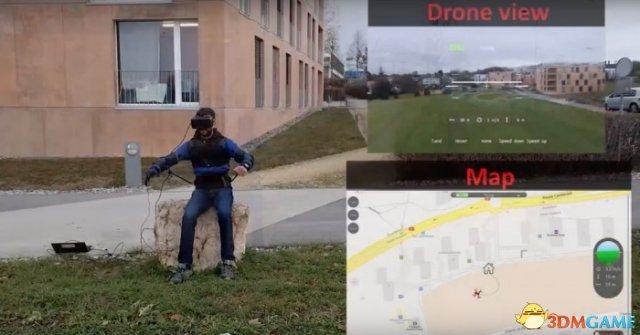FlyJacket外骨骼讓用戶使用身體制一個無人機