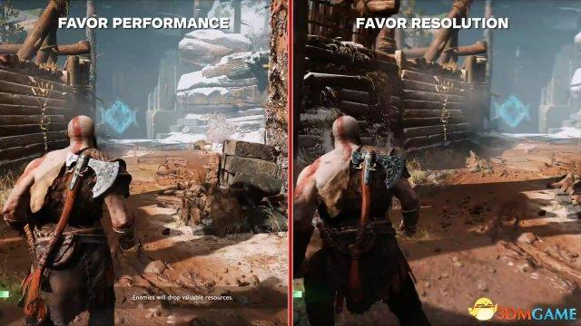 《战神4》PS4 Pro主机对比视频 画面真的有区别?