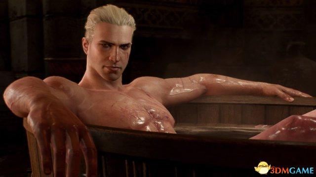 玩家自制《巫师3》白狼Mod 沧桑大叔化身小鲜肉