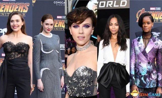 《复联3》全球首映众星亮相 寡姐红女巫美艳性感