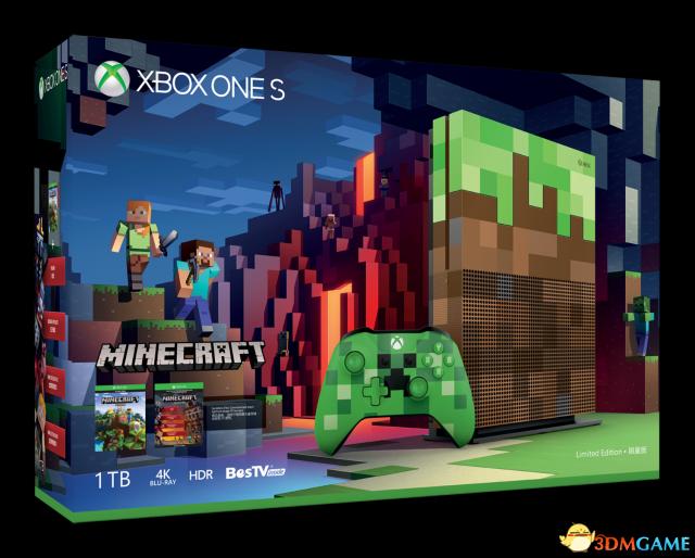 国行Xbox One S 1TB《我的世界》限量版主机今日正式开售