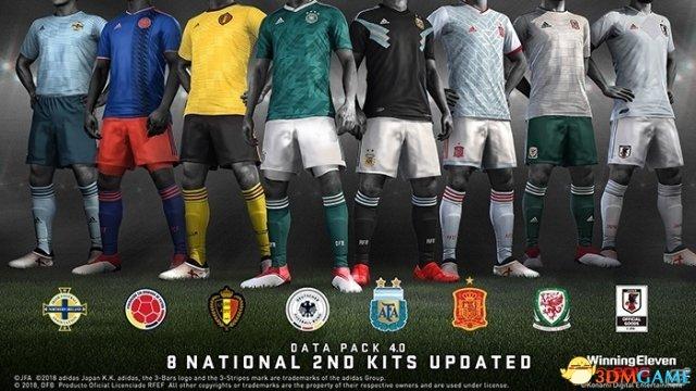 全国家队服换新! 《实况足球2018》 最新更新上线