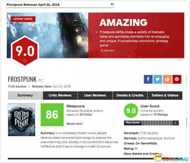 IGN&Metacritic评分