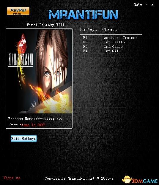 最终幻想8 v2018.05.07三项修改器[MrAntiFun]