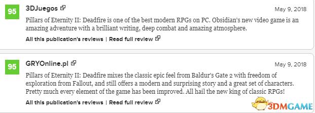 《永恒之柱2》PC版媒体平均分上升至90分